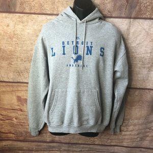 NFL Detroit Lions Football Hoodie Grey Blue